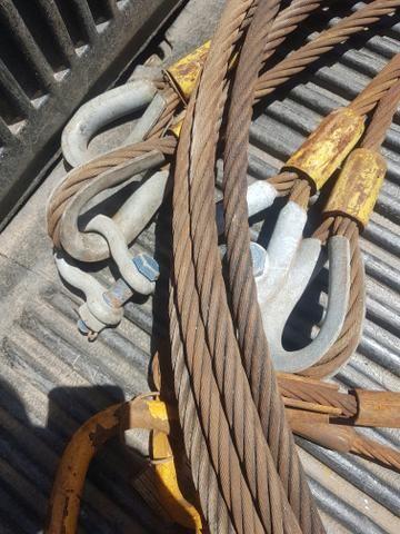 Cabos de aço mais ou menos 3mts. tenho 3 unidades - Foto 3