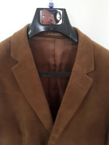 Blazer masculino Buckman de veludo - marrom tam. 56. - lindo