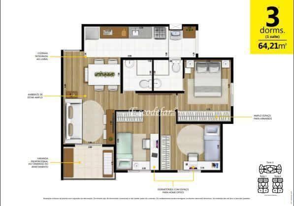 Apartamento à venda, 64 m² por R$ 378.594,00 - Macedo - Guarulhos/SP - Foto 18