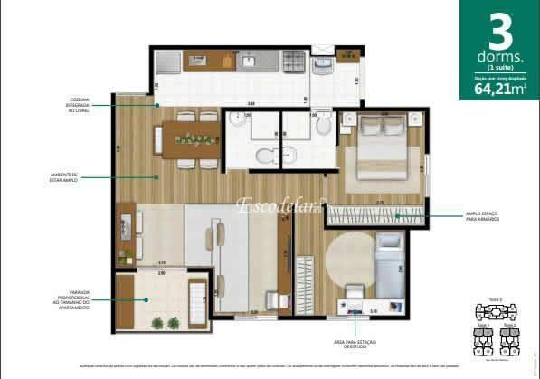Apartamento à venda, 64 m² por R$ 378.594,00 - Macedo - Guarulhos/SP - Foto 19