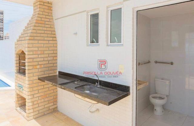 Apartamento 3 quartos no Bessa com varanda gourmet e área de lazer - Foto 5