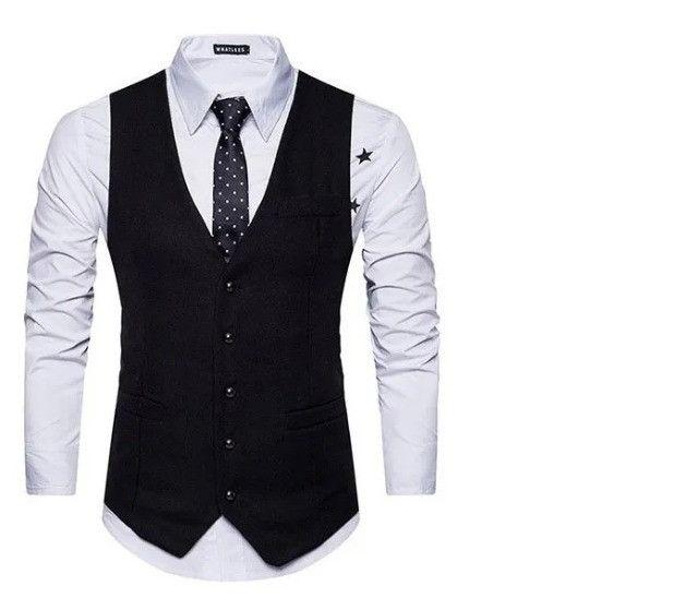 Colete Social Slim Masculino Regulável - Lançamento - Todas as cores Disponíveis - Foto 3