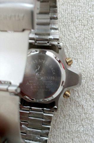 Relógio modelo Aqualand marca Atlantis com pulseira de aço inoxidável - Foto 5