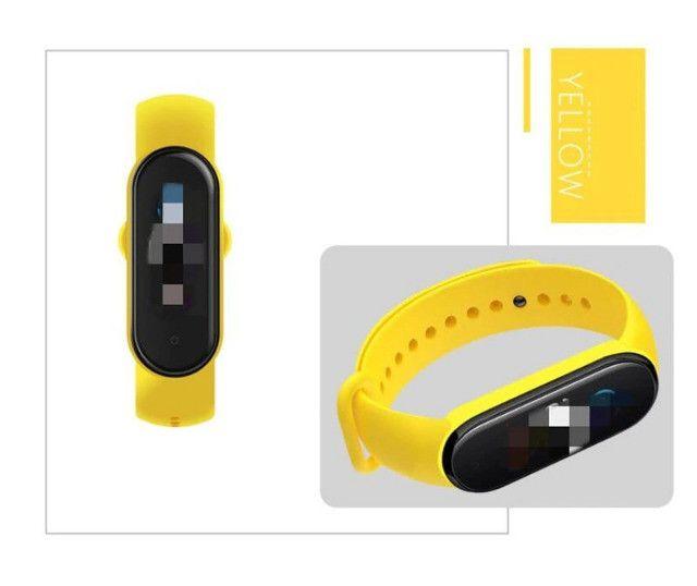 Pulseira De Silicone Para Smartband Xiaomi Mi Band 5 Qualidade Original - Foto 2