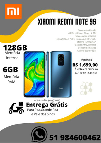 Xiaomi Redmi Note 8 64GB,Note 9Pro 128GB,Note 9S 128GB-NOVO-LACRADO-VERSAO GLOBAL - Foto 3