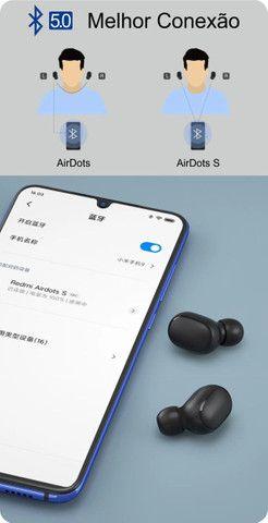 Fone de ouvido sem fio Xiaomi Redmi AirDots S preto original - Frete grátis p/ BH - Foto 5