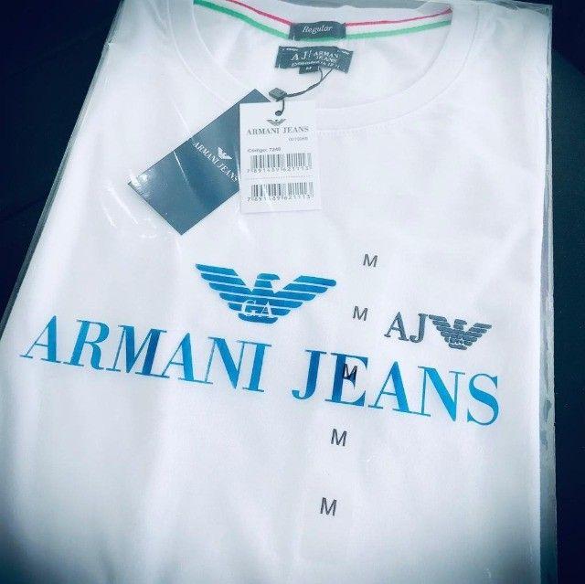 camisetas armani basicas atacado  - Foto 3