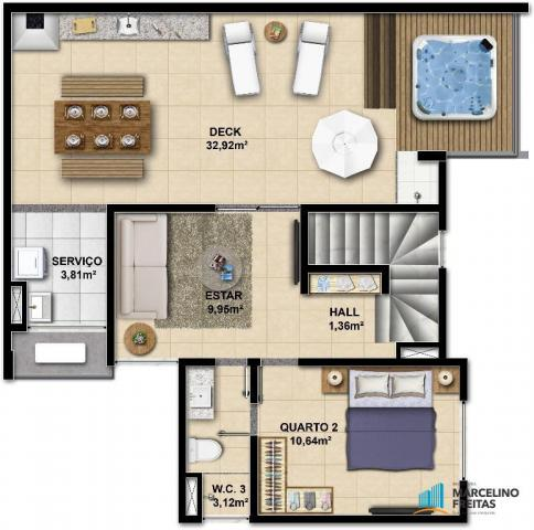 Apartamento c/3 quartos à venda, 77 m² por R$ 359.504 - Eusébio - Eusébio/CE - Foto 15