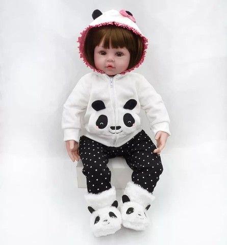 Bebê Reborn Panda 100% silicone  - Foto 4
