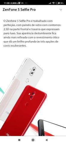 Vendo celular zenfone 5 selfie pró 128 giga 4ram - Foto 3