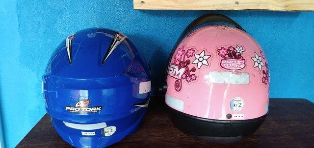Desapego de dois capacetes - Foto 2