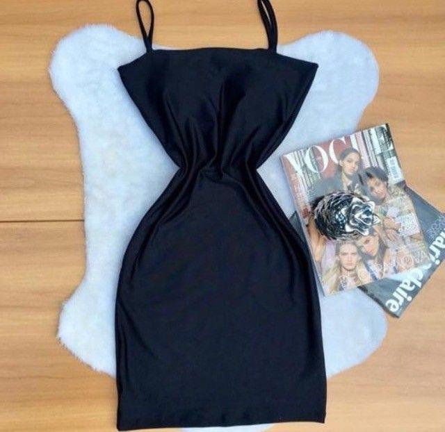 Vestido decote reto com bojo  - Foto 3