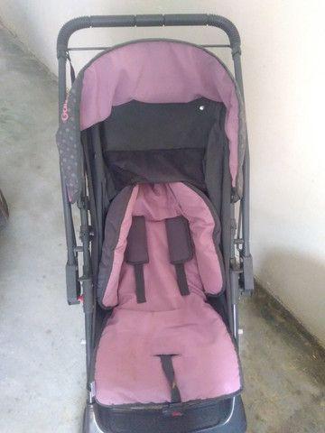 Vende-se carrinho de bebê (Menina) - Foto 4