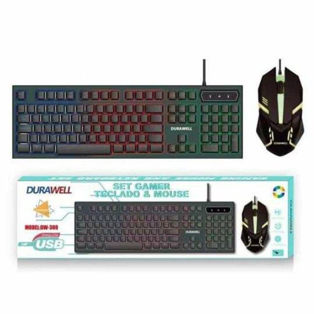 Kit teclado e mouse Usb com Led colorido.