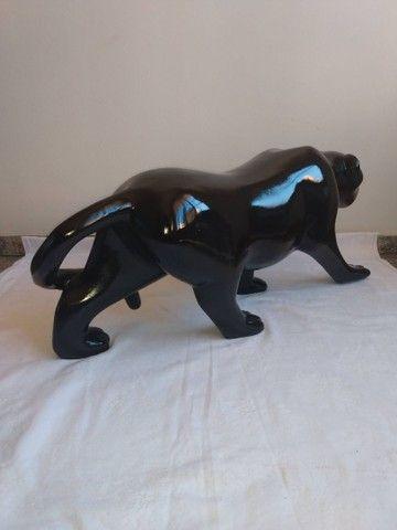 Escultura de PANTERA NEGRA em fibra de vidro e resina - Foto 6