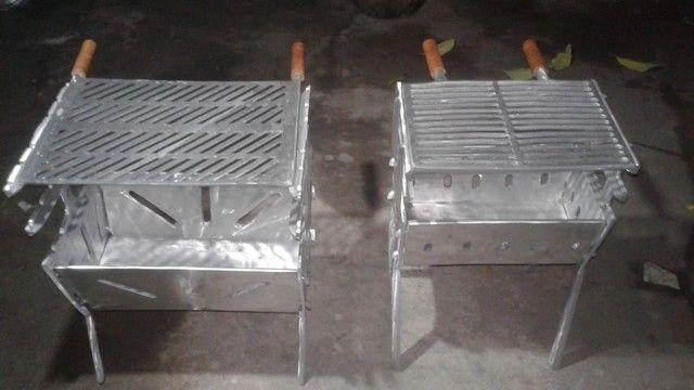 Vendemos churrasqueiras de aluminio desmontavél. - Foto 6