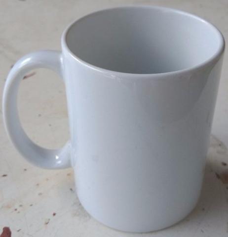 Caneca de cerâmica branca para sublimação de 325ml + caixinha