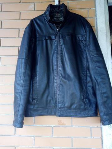 72379b333 Jaqueta de couro mercado de pulgas Joinville jaquetas masculinas e femininas  brechó