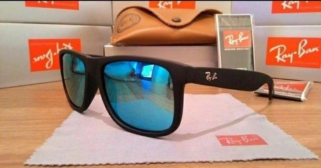 Óculos de Sol Ray-Ban Justin e New Wayfarer - Bijouterias, relógios ... 9bec7e2e4e