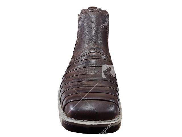 49a8344ac1 Bota Botina Masculina Casco De Tatu Couro Nobre Cowboy - Roupas e ...