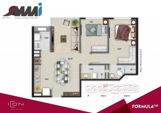 Icon - apartamento com 02 quartos sendo 01 suíte em bc - Foto 11