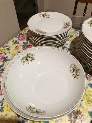Jogo de jantar 39 peças em porcelana Steatita - Foto 4