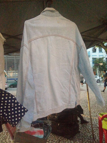 Jaqueta retro clara tamanho G - Foto 3