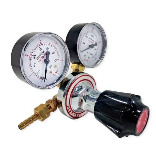 Regulador Manômetro De Pressão De Oxigênio e Acetileno - Foto 2