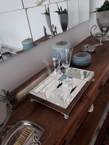 Bandeja espelhada, espelho , MDF, casa, cozinha , sala, banheiro  - Foto 3