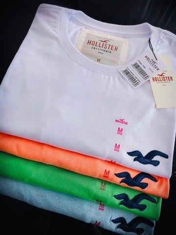 camisetas hollister basicas atacado  - Foto 3
