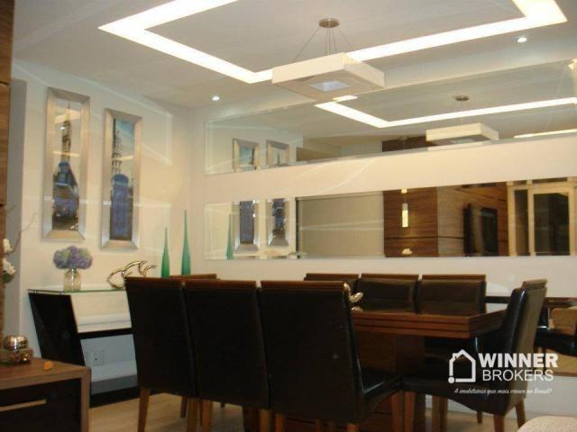 Lindo apartamento mobiliado à venda no novo centro de Cianorte! - Foto 3