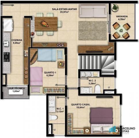 Apartamento c/3 quartos à venda, 77 m² por R$ 359.504 - Eusébio - Eusébio/CE - Foto 14