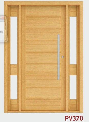 Porta de Madeira Com visor lateral  - Foto 2