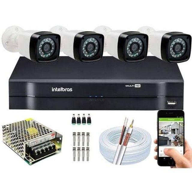 Câmeras de segurança, instalações elétricas