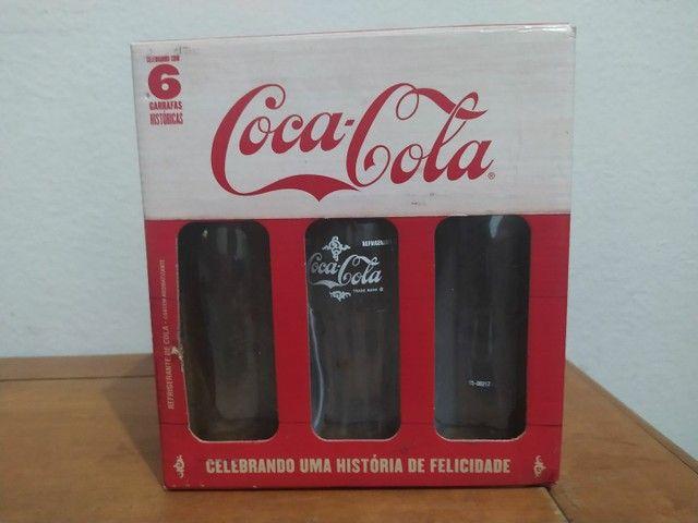 Coleção garrafas históricas Coca-Cola