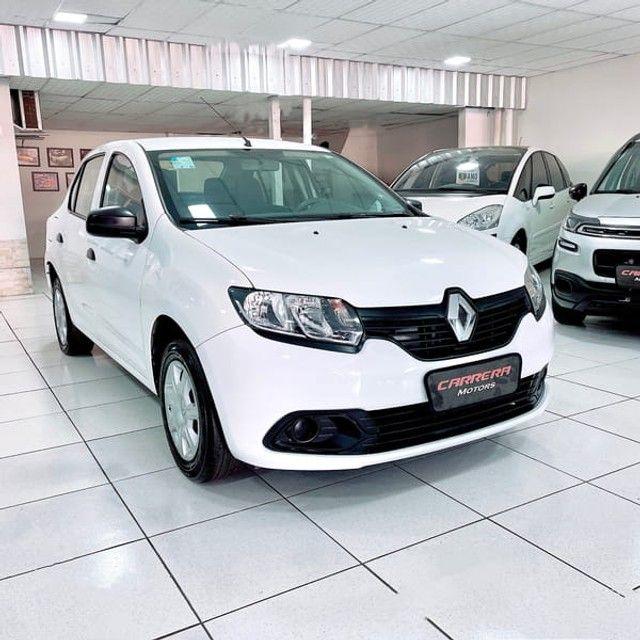 Renault Logan Authentique 1.0 12V  (Flex) - 2019 - Foto 3