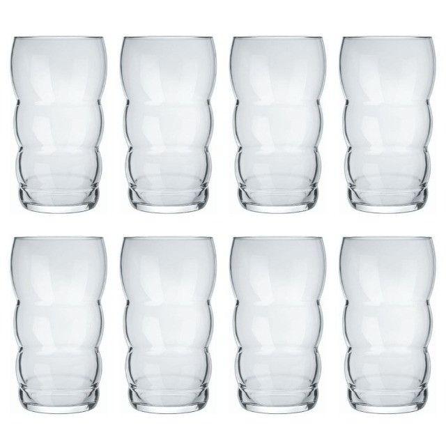 Compre 6 e Leve 9 Copos Grandes de Vidro (Nadir) + Uma Jarra com Alça - Foto 6