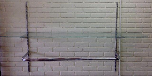 Arara de Roupas, Legas Metal, Cromado para Loja de Roupas com prateleira de vidro,