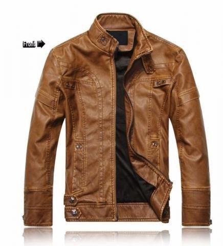 Jaqueta de couro premium nova (tam P)