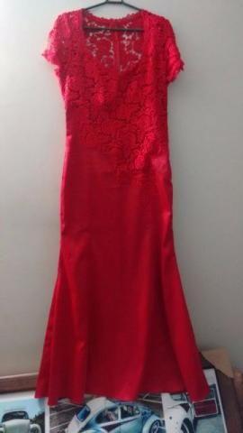 Vestido de Festa Vermelho Tam G