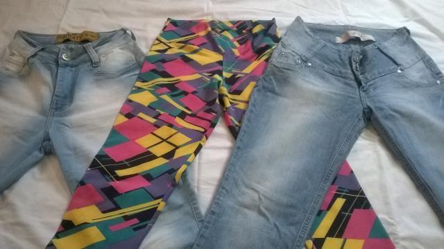 Calças jeans e legging feminino