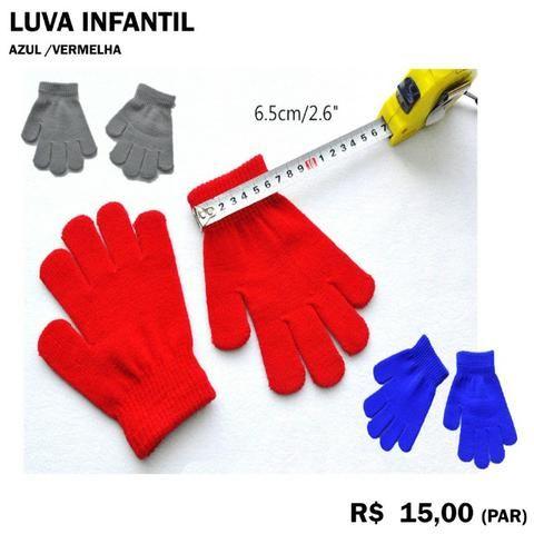 f0bd3eb486e51 Luva de Frio Infantil Azul