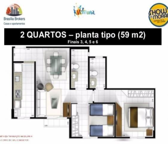 Samambaia Sul, Residencial Ventura - 2 quartos
