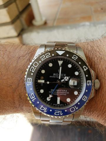 3ff1d4f1b61 Relógio Rolex GMT Máster 2 - Bijouterias