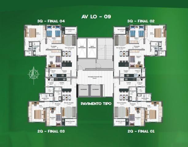 Apartamentos 2 quartos, 63 m² na 405 Sul - Torre Esmeralda - Foto 5