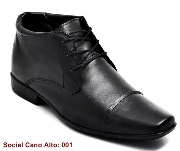 05cf5d80d Sapato Botinha Social Cano Alto em Couro Legítimo - Atacado - Roupas ...