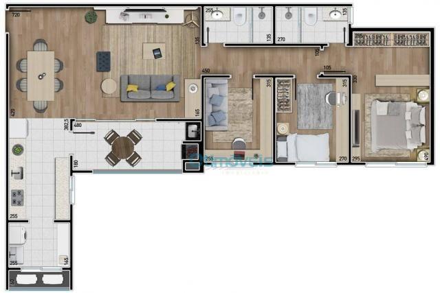 Apartamento com 3 dormitórios à venda, 108 m² por r$ 741.712 - ecoville - curitiba/pr - Foto 2