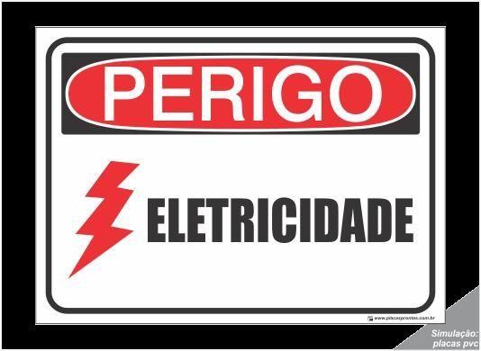 Placa De Sinalização Perigo Eletricidade 30x20 Novo Garantia - Foto 4