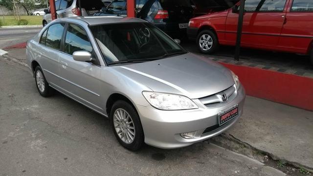 Honda Civic ex automatico 2006 + couro novinho - Foto 2