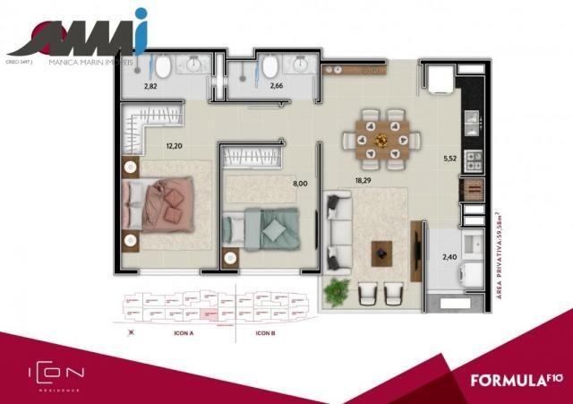 Icon - apartamento com 02 quartos sendo 01 suíte em bc - Foto 15